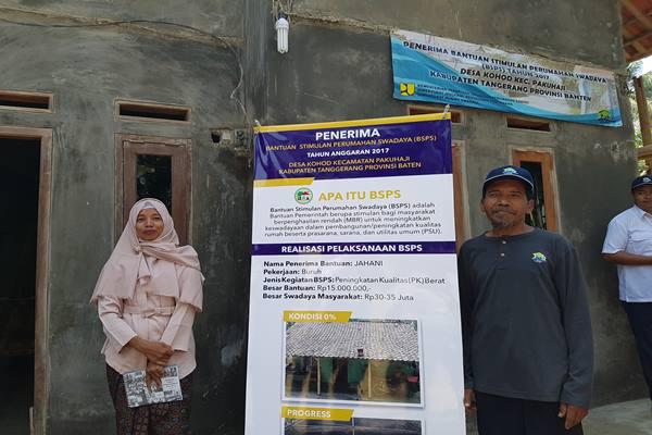 Kementerian PUPR merenpovasi rumah warga di Desa Kohod, Kabupaten Tangerang melalui program Bantuan Stimulan Perumahan Swadaya (BSPS). - Istimewa