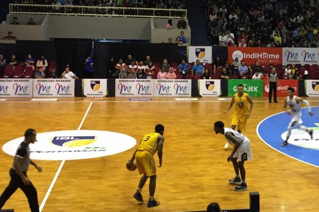 GOR Bima Sakti, Kota Malang, yang dipergunakan untuk laga Indonesian Basketball League (IBL) Pertamax 2018-2019. GOR Bima Sakti juga akan digunakan untuk pertandingan seri ketujuh IBL 2020 - Antara/Vicki Febrianto.