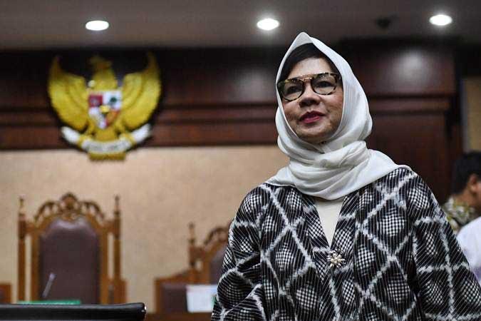 Karen Agustiawan saat menjalani sidang lanjutan di Pengadilan Tipikor, Jakarta, Kamis (14/2/2019). - ANTARA/Akbar Nugroho Gumay