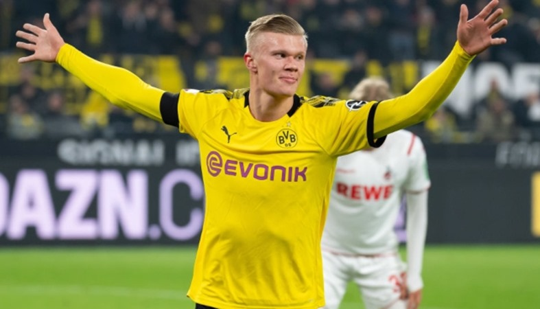 Striker Borussia Dortmund, Erling-Haaland - Teamtalk