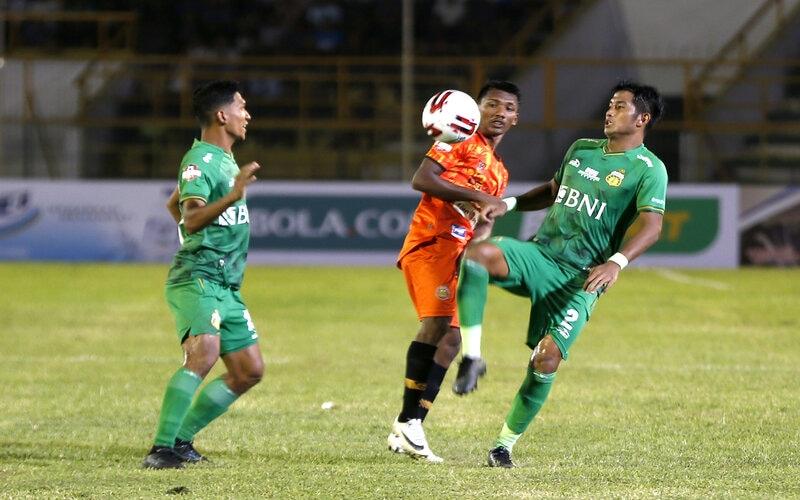 Ilustrasi pertandingan Bhayangkara FC. - Antara/Irwansyah Putra