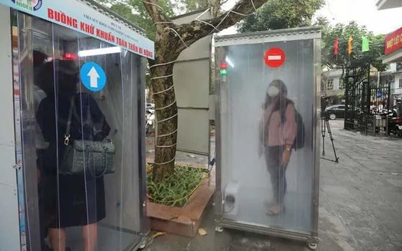 Contoh mobile decontamination chamber (MDC) yang diterapkan di Vietnam. - Dok. Istimewa