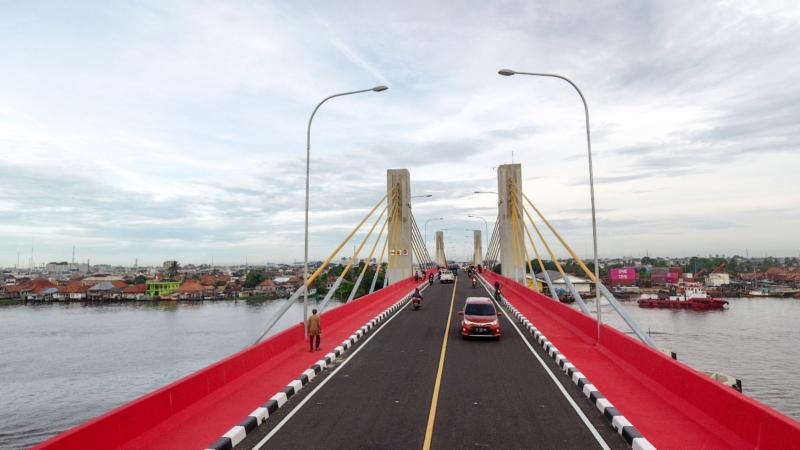 Jembatan Musi IV yang menghubungkan Jalan Slamet Riyadi di Seberang Ilir dan Jalan K.H Azhari di Seberang Ulu Kota Palembang. - Istimewa