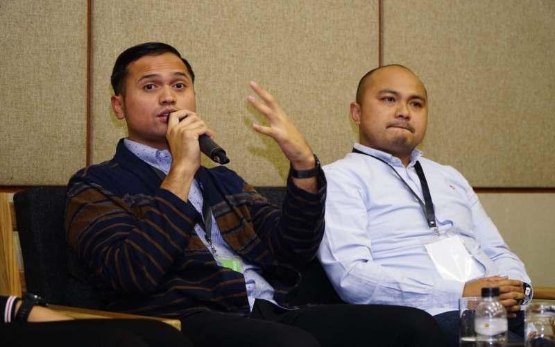 Diatce G. Harahap, Ketua bidang UMKM dan Startup Himpi Jaya (kiri) dan Ketua Umum Hipmi Jaya Afifuddin Suhaeli Kalla. - Istimewa
