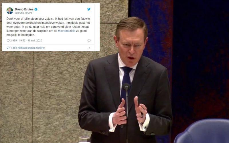 Menteri Kesehatan Belanda Bruno Bruins memutuskan untuk mengundurkan diri dari jabatannya pada Kamis (19/3/2020) setelah kelelahan menangani pandemi virus corona - youtube.com.