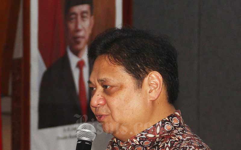 Menteri Koordinator Bidang Perekonomian Airlangga Hartarto - Bisnis/Triawanda Tirta Aditya