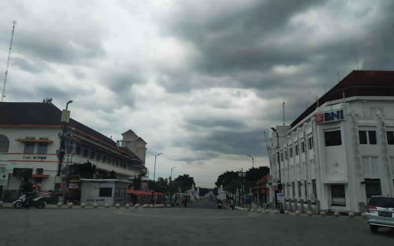Kondisi salah satu ruas utama di Kota Jogja, Minggu (22/3/2020) - Bisnis/Stefanus Arief Setiadi.