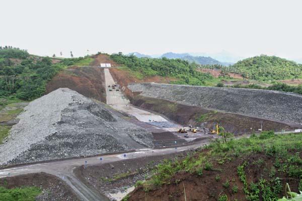 Bendungan Lolak di Sulawesi Utara dengan posisi progres pembangunannya mencapai 46% pada Rabu (15/11/2017). - Istimewa/Kementerian PUPR