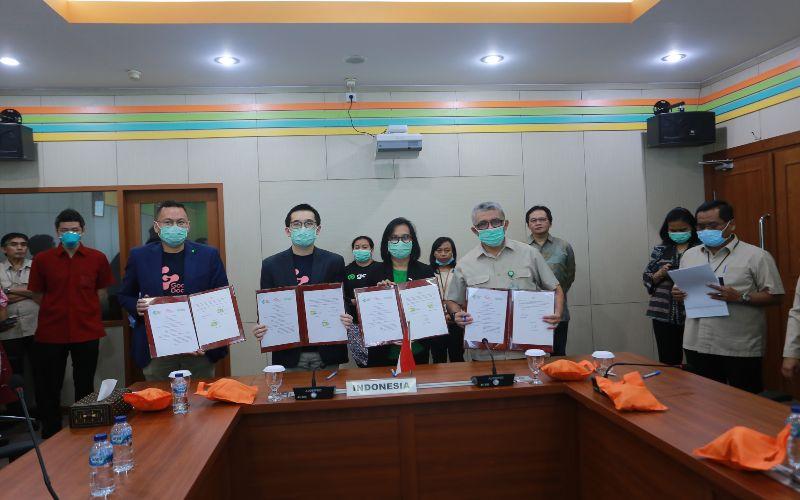 Grab dan Good Doctor kerja sama dengan Kementerian Kesehatan menyediakan layanan pemeriksaan daring.  - istimewa