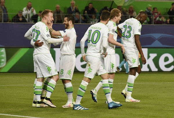 Pemain Wolfsburg - Reuters