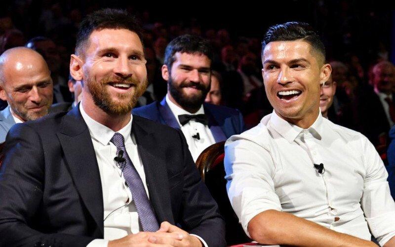 Lionel Messi dan Cristiano Ronaldo. - Harold Cunningham/UEFA, via Getty Images