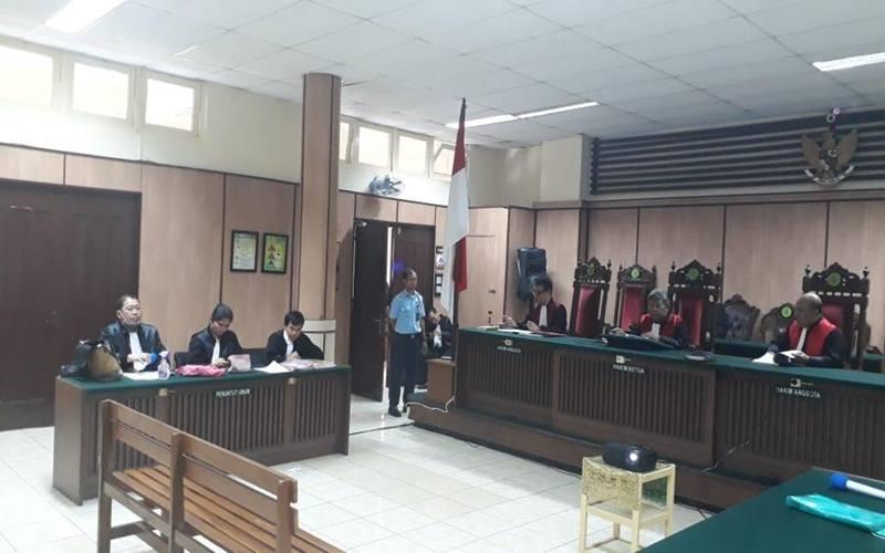 Kejaksaan Negeri (Kejari) Jakarta Utara menjalankan sidang dengan agenda tuntutan dan pembacaan putusan Majelis Hakim Pengadilan Jakarta Utara melalui sarana video conference (e-court) pada Selasa (24/3/2020). - Istimewa