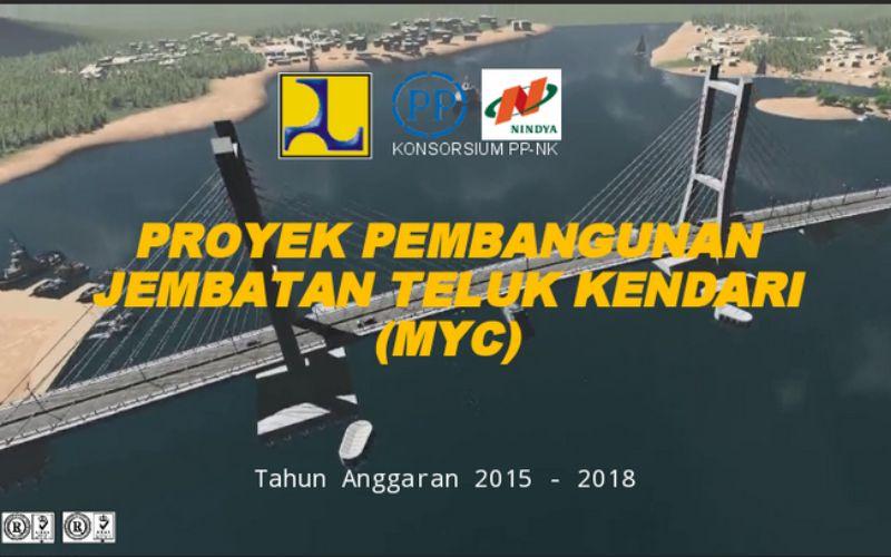 Progres pembangunan Jembatan Teluk Kendari hingga 10 Maret 2020 telah mencapai 85,1 persen - Kementerian PUPR.