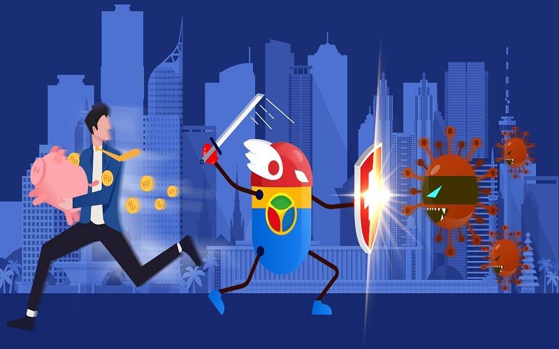 Ilustrasi: Perlindungan terhadap saham dari ancaman virus corona.