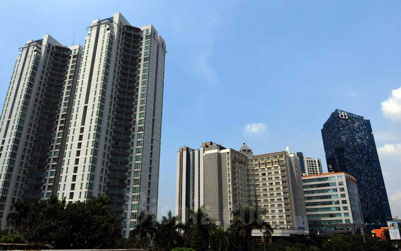 Sejumlah gedung bertingkat di Jakarta, Senin (16/3/2020). Bisnis - Abdurachman