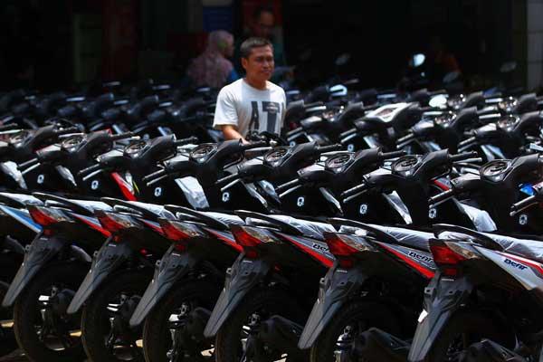 Sepeda motor baru siap didistribusikan.  - Bisnis.com