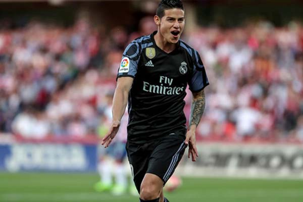 Pemain Real Madrid James Rodriguez - Reuters/Pepe Marin