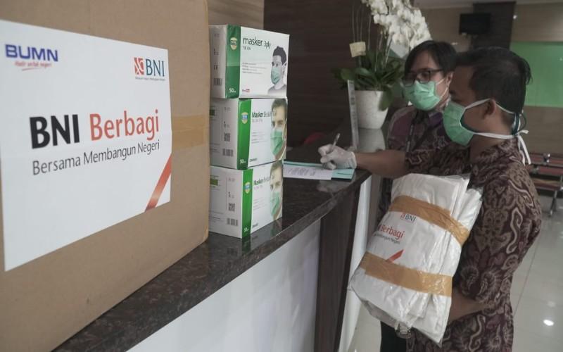 BNI berikan bantuan bagi tenaga kesehatan lawan wabah corona, Jumat (27/3/2020) - istimewa