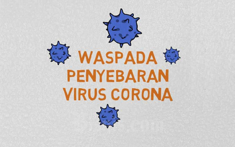 Poster sosialisasi penanganan virus corona