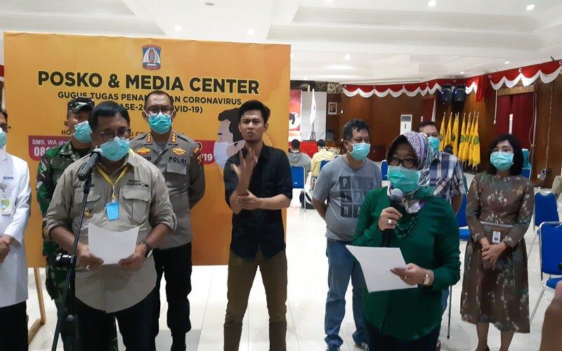 Konferensi pers perkembangan Covid/19 di Kalimantan Timur.