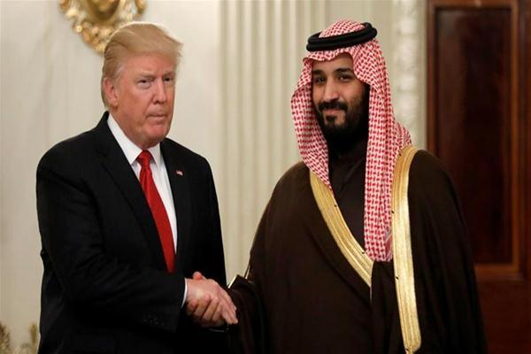 Presiden AS Donald Trump dan Putra Mahkota Arab Saudi Mohammad bin Salman - Istimewa
