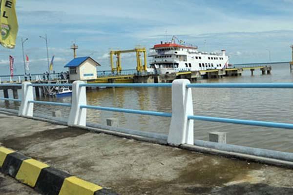 Dermaga Pelabuhan Tanjung Api-api di Musi Banyuasin, Sumatra Selatan. - Antara/Feny Selly