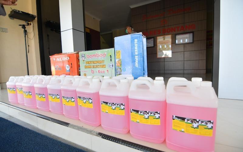 Pupuk Kaltim Salurkan Bantuan Untuk Antisipasi Covid-19 di Bontang. - JIBI/Istimewa