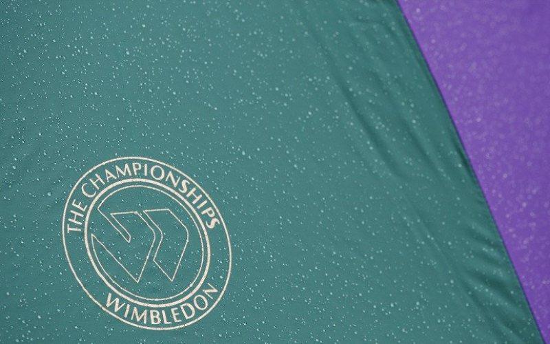 Logo kejuaran tenis Wimbledon salah satu turnamen kelas Grand Slam - Antara.