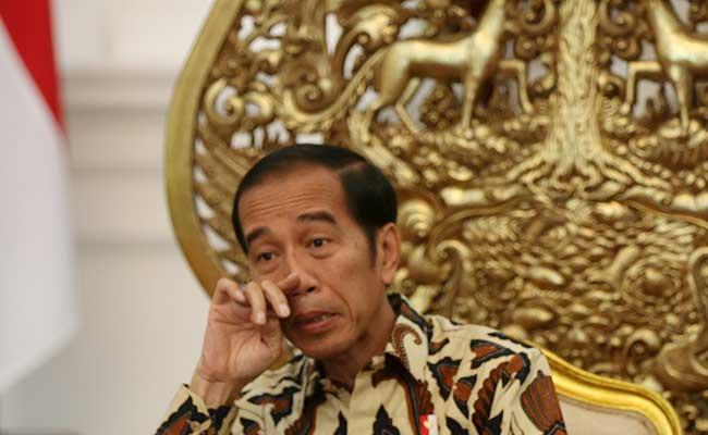 Presiden Joko Wiodo memberikan keterangan saat menerima kunjungan dari tim redaksi Harian Bisnis Indonesia di Istana Merdeka, Jakarta, Rabu (29/5/2019). Bisnis - Abdullah Azzam