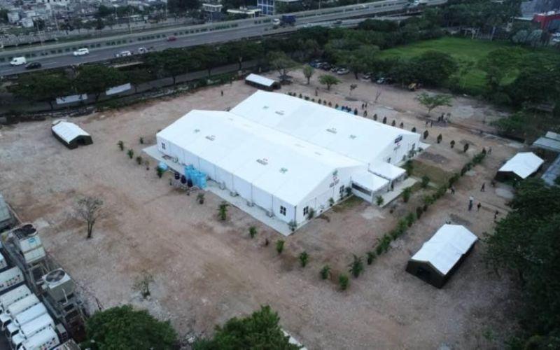 Yayasan Artha Graha Peduli bekerja sama dengan beberapa pihak lainnya mendirikan rumah sakit lapangan (Rumkitlap) di Kawasan Pasir Putih Ancol yang digunakan sebagai sarana rapid test Covid-19 - Bisnis/Istimewa.