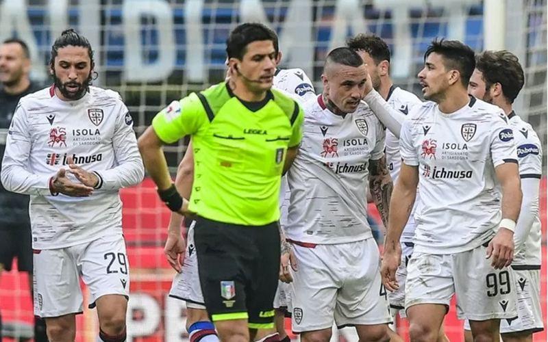 Pemain Cagliari. - Antara