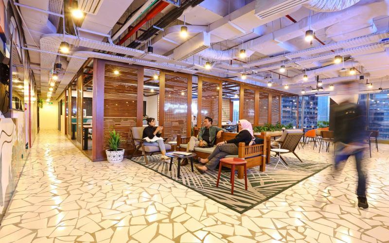 Ruang kerja bersama atau coworking space. - JustCo