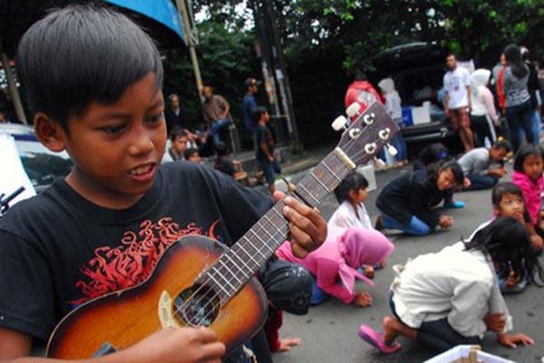 Ilustrasi anak jalanan - Antara