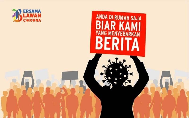 Poster Bersama Lawan Corona_di rumah saja