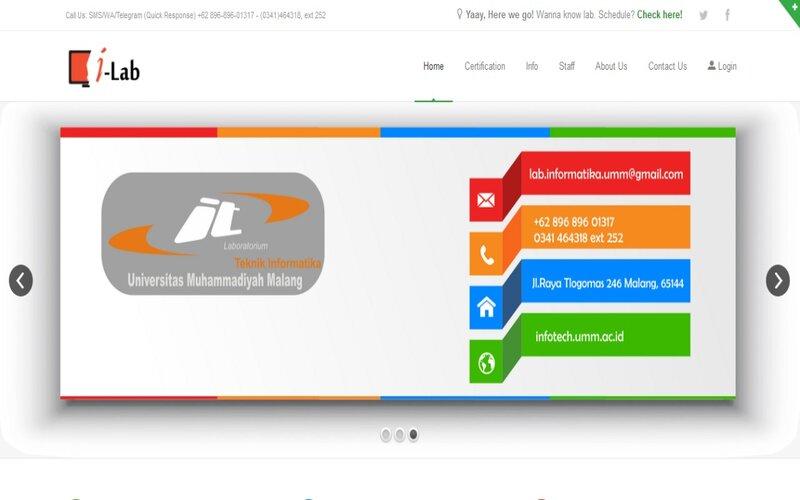 Aplikasi iLab yang dikembangkan UMM. - Istimewa