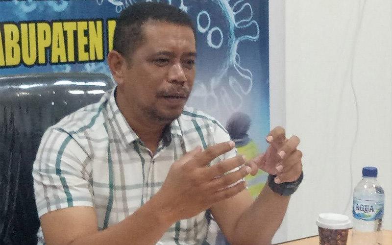 Juru Bicara Tim Gugus Tugas Penanganan Covid-19 Kabupaten Mimika Reynold Ubra. - Antara/Evarianus Supar