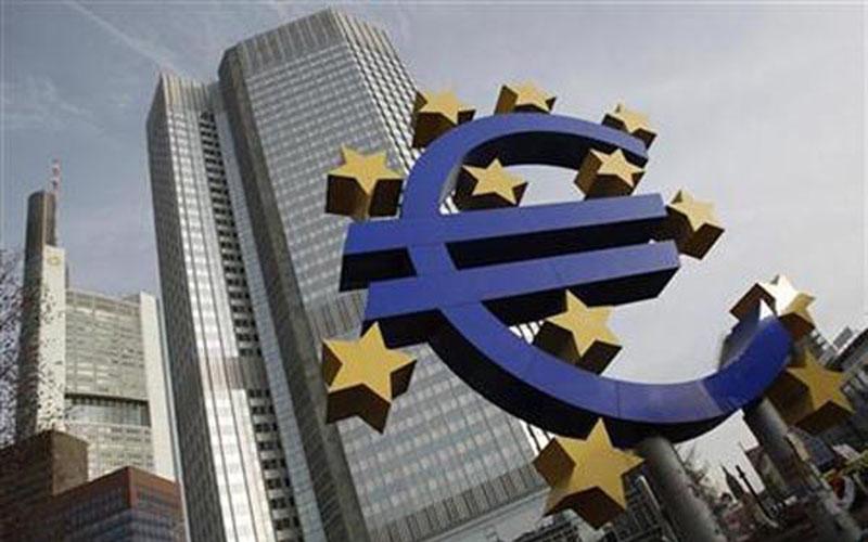 Kantor pusat Bank Sentral Eropa (ECB) di Frankfurt, Jerman. - Reuters