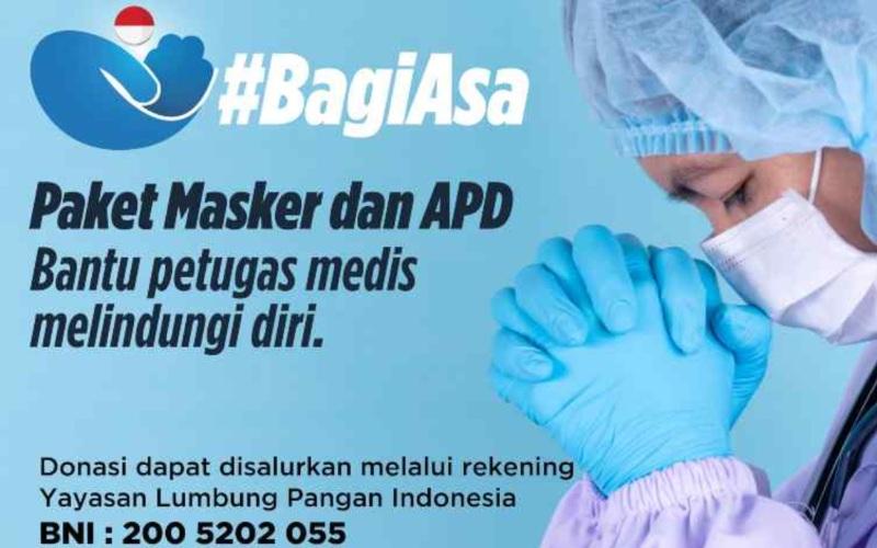 BagiAsa adalah sebuah gerakan bersama untuk membantu meringankan beban keluarga kurang mampu dan melindungi petugas medis. Bantuan khususnya berupa makanan, namun bisa juga sembako dan alat pelindung diri (APD) seperti masker. Gerakan ini kolaborasi media Katadata, Bisnis Indonesia, SWA dan KBR bersama firma hukum Hendra/Soenardi, Foodbank of Indonesia (FoI) dan Accelerice.