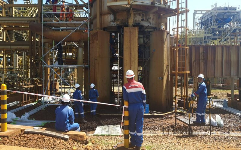 Proses recovery Unit Thermal Oxidizer (TOx) CPP Gundih Blora. - Ist