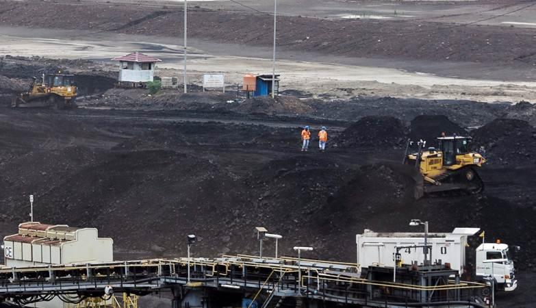Aktivitas penambangan batu bara di Tambang Air Laya, Tanjung Enim, Sumatra Selatan, Minggu (3/3/2019). - Bisnis/Felix Jody Kinarwan