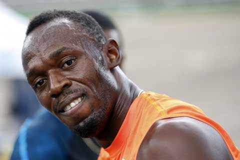 Mantan sprinter juara dunia dari Jamaika, Usain Bolt. - Reuters/Gilbert Bellamy