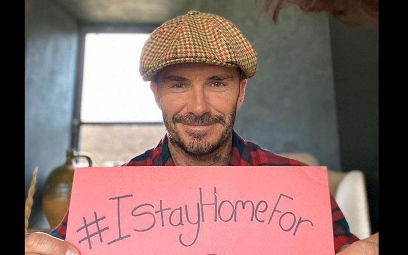 David Beckham mendukung gerakan pencegahan penyebaran virus corona. - Instagram