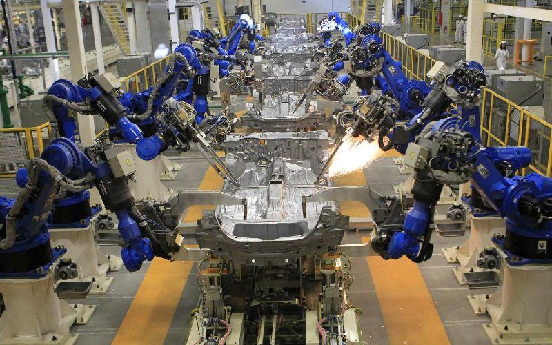 Lini produksi terlihat setelah pembukaan pabrik mobil baru Honda di pinggiran Celaya, Guanajuato, Meksiko 21 Februari 2014. /REUTERS