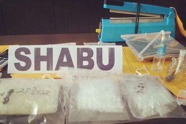 Barang bukti sabu-sabu di Mapolres Bantul, Selasa (3/3/2020).  - Harian Jogja/Ujang Hasanudin