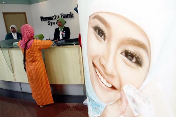 Aktivitas di kantor cabang PermataBank Syariah - Istimewa