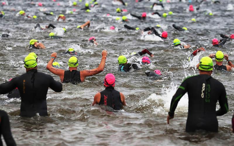 Ilustrasi perlombaan triathlon - Bloomberg