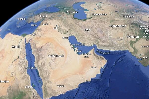 Peta Timur Tengah - Repro/Google