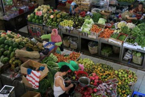 Kebutuhan pokok di pasar tradisional. - Ilustrasi/Bisnis