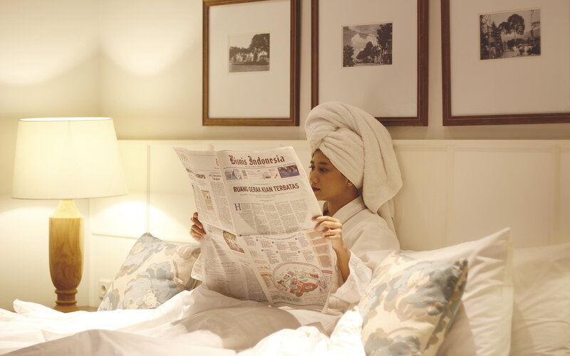 Ilustrasi layanan karantina mandiri di hotel.