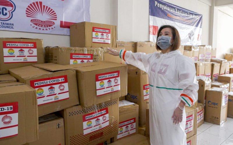 Bantuan yang dihimpun Kamar Dagang dan Industri Indonesia (Kadin) Komite Taiwan bersama Indonesia Taiwan Business Council (ITBC), ICATI (Ikatan Citra Alumni Taiwan se-Indonesia) Jakarta dan Komunitas Sahabat Pelita Kasih (KSPK) - Dok/ITBC.